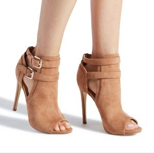Brand new tan booties